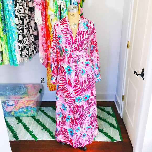 400419dad Lilly Pulitzer Dresses & Skirts - Vintage Lilly Pulitzer Zebra Caftan Maxi  Dress